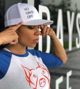 Photo of Jai Faith wearing No Days Off Apparel